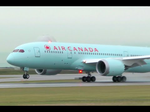 Air Canada Boeing 787-8 Dreamliner Landing at YVR