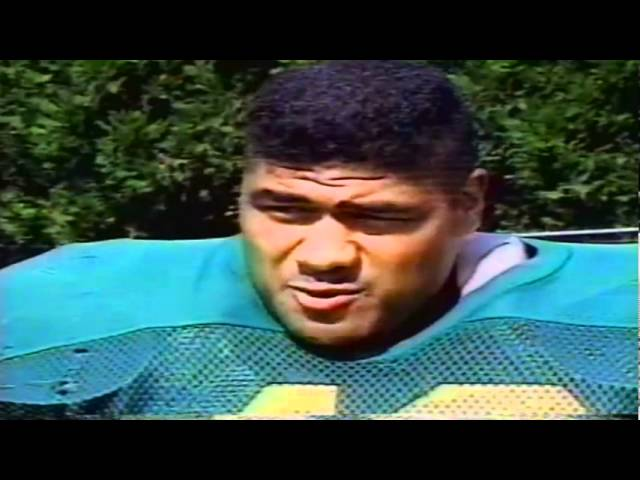 Feature on Oregon LB John Taumoepeau from the Rich Brooks Show 9-12-1993