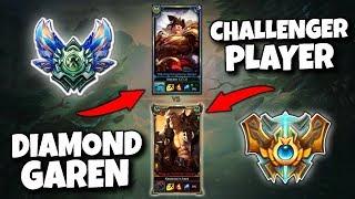 DIAMOND GAREN MAIN VS CHALLENGER FIRST TIME GAREN! - League of Legends