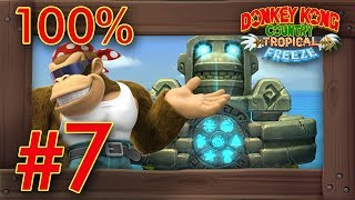 Donkey Kong Country: Tropical Freeze (FUNKY MODE) - 100% Walkthrough World 7 | Switch Gameplay