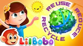 Save the Earth - Reduce, Reuse & Recycle Song | Little BoBo Nursery Rhymes | FlickBox Kids