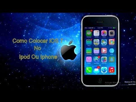 Como Colocar iOS 7 No Ipod Touch 1G 2G MC Ou MB Iphone 2G 3G