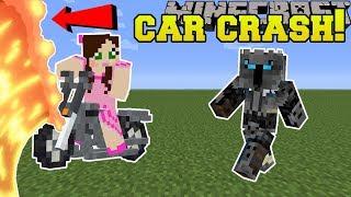 Minecraft: JEN CRASHES A CAR!!! - Animation
