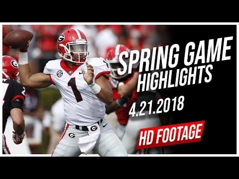 Justin Fields Georgia Spring Game Full Highlights || 4.21.2018