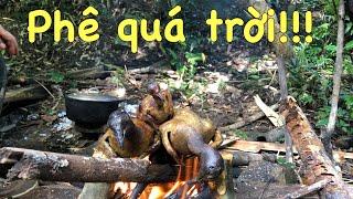 Đi Săn!!! trải nghiệm bữa ăn trong rừng với thịt chim gầm ghì cực ngon!!!