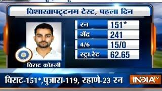 India vs England, 2nd Test Day-1: Virat Kohli Hit Century (151 Runs), Pujara 119 Runs