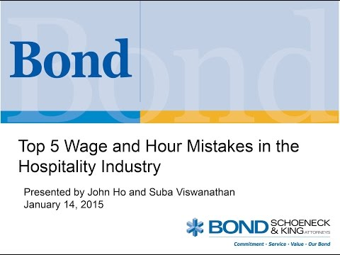 Top 5 Wage and Hour Mistakes in the Hospitality Industry