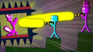 Zombey mobbt mich! Selbsterstellte Level! - Stick Fight: The Game