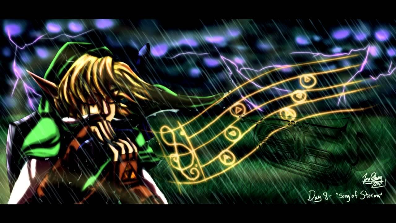 Legend of zelda ocarina of time song of storms baritone euphonium