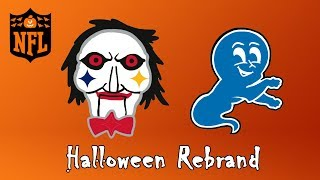 All 32 NFL Team Logos Halloween Rebrand