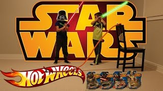 Star Wars Hot Wheels: Good Vs Evil BIG jump competition!!!