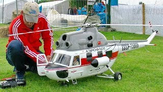 MIL MI-2 GIANT RC SCALE ELECTRIC MODEL HELICOPTER FLIGHT DEMONSTRATION