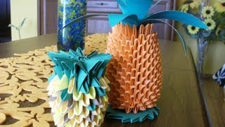 Origami 3d - Pineapple - How To Make Instruction