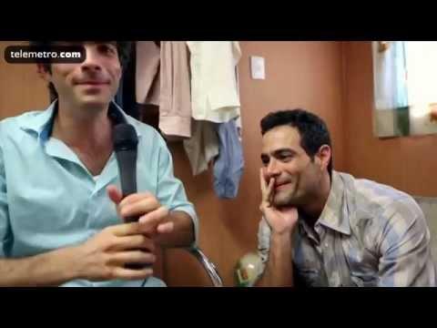 Backstage de la grabacion de Lo Que La Vida Me Robo (Daniela Castro y elenco)