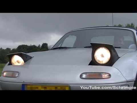 Mazda MX 5 Miata - Exhaust Sound. 0-100 Acceleration. Drifting. Winking Headlights -