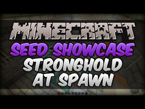 Minecraft 1.7.9 Seed Showcase - Exposed Stronghold AT SPAWN!