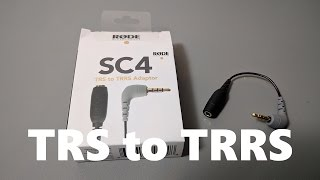 Rode SC4 Microphone to Smartphone Adaptor Cable (3.5mm TRS to TRRS)