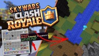 JUGANDO EL MAPA DE CLASH ROYALE EN SKYWARS OVERPOWERED! - Minecraft
