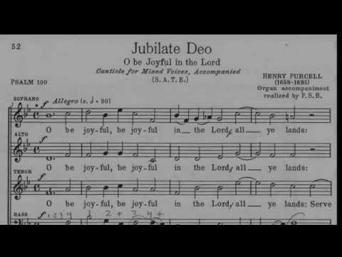 Пёрселл Генри - Jubilate Deo, Z 230/4