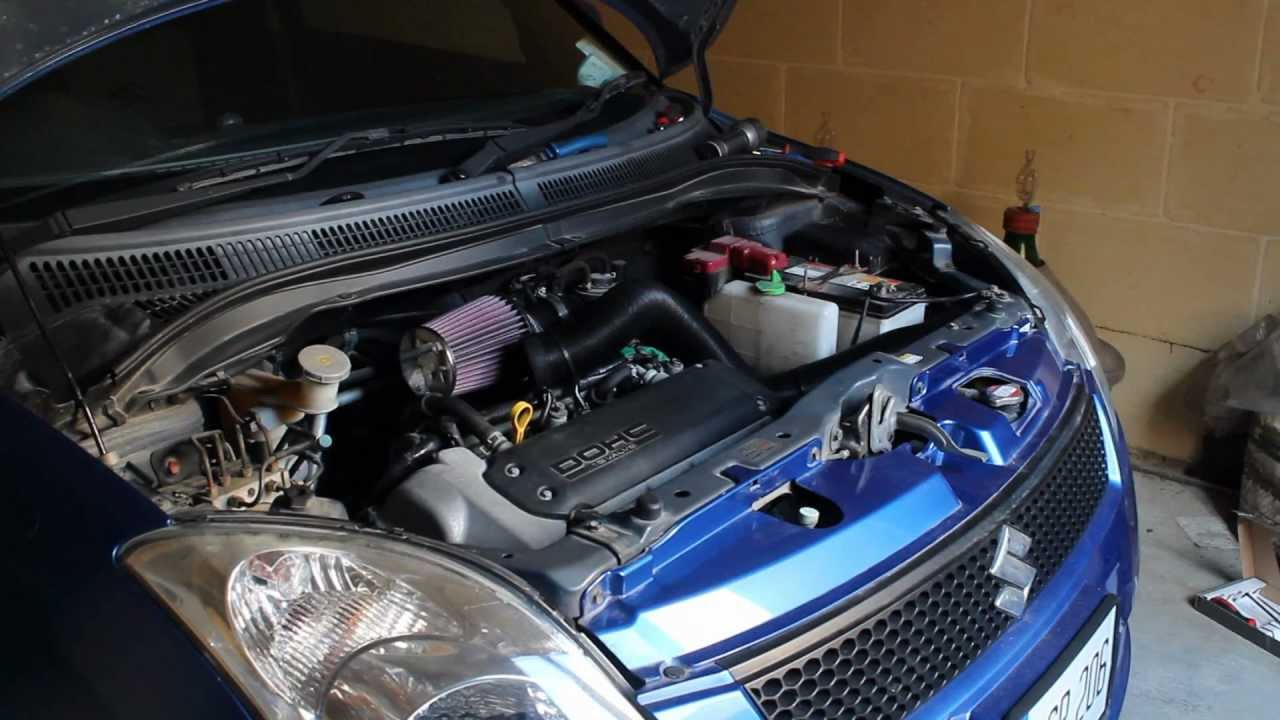 2006 suzuki swift fitted with k n induction kit youtube