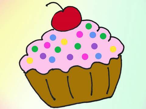 Drawing Tutorial: Strawberry Cup Cake