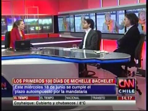 JORGE RAMÍREZ EN ENTREVISTA EN CNN POR EVALUACIÓN 100 DÍAS DE MICHELLE BACHELET