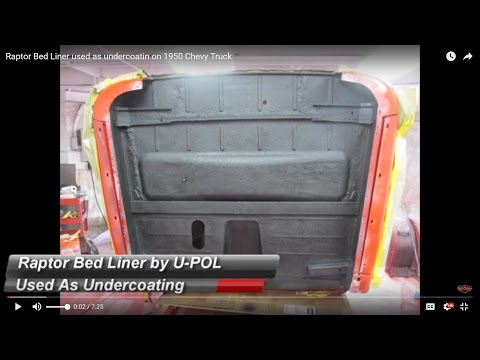 Raptor Bed Liner used as undercoating on a 1950 Chevy Truck (Raptor by U-POL )