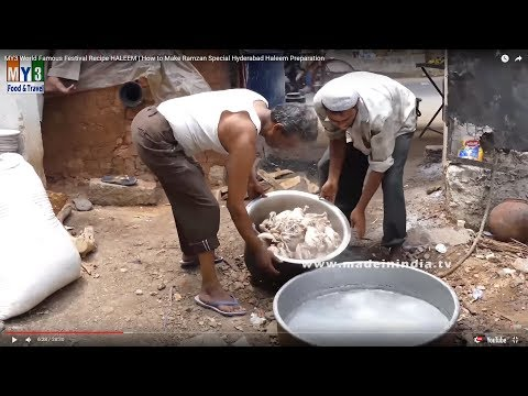 #IRANI HALEEM MAKING | How to Make Ramzan Special Hyderabad Haleem Preparation | FOOD & TRAVEL TV