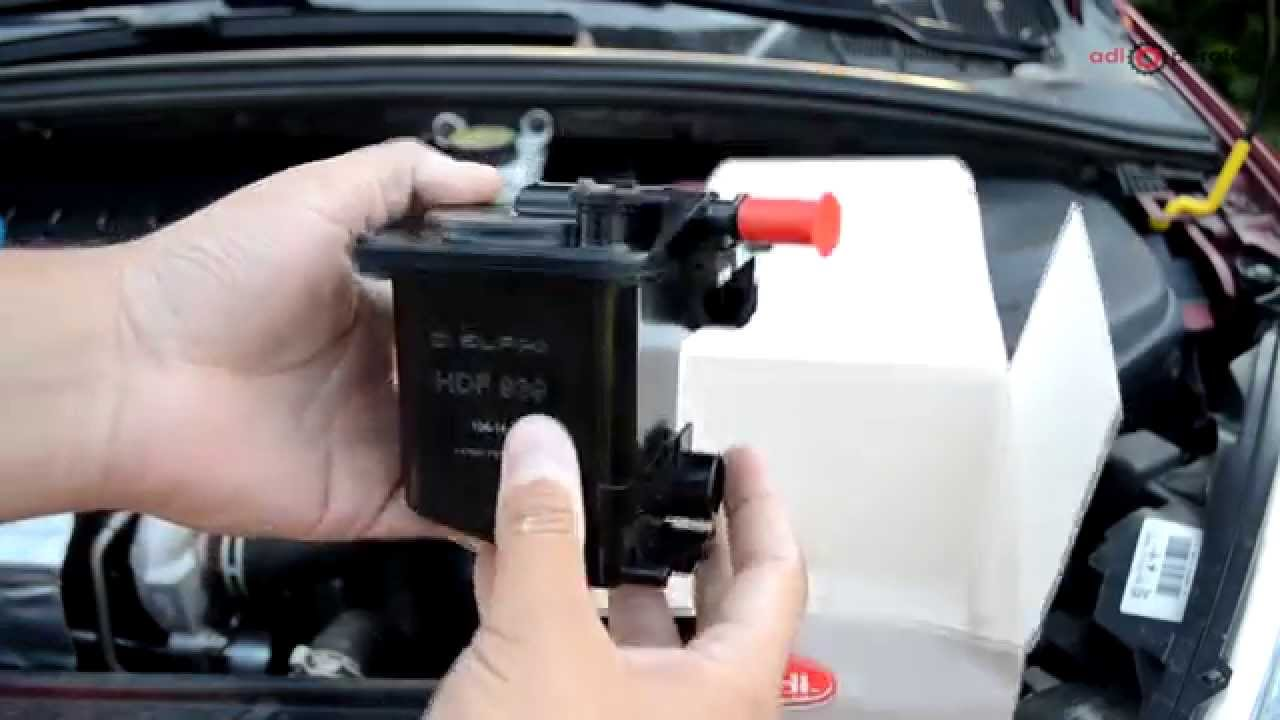 how to change fuel filter 1 6 hdi peugeot 307 308 and. Black Bedroom Furniture Sets. Home Design Ideas