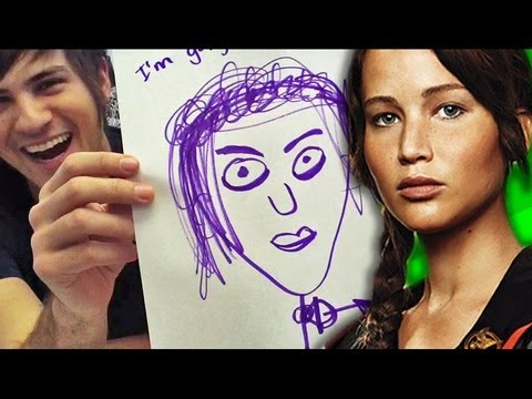 Speed Drawing Of Hg Characters The Hunger Games Video Fanpop