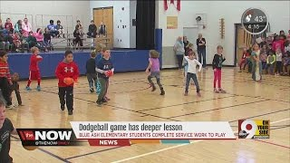 Blue Ash Elementary's dodge ball game serves a special purpose