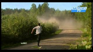 Crashes from first and second days Rally Finland WRC 2011