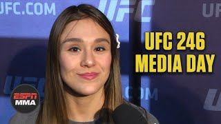 Alexa Grasso wants to make the most of her platform | UFC 246 Media Day | ESPN MMA