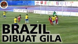 TIKI TAKA TIMNAS U19 vs BRAZIL - Brazil Hampir Dibuat Gila Oleh Timnas U19 Dalam 1 Menit Lebih