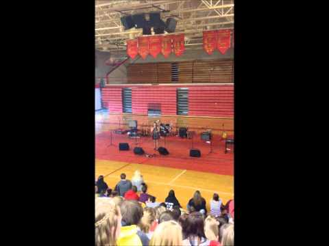 Amber Renee singing No One by Alicia Keys at Bullitt East High School Talent Show 11-20-12