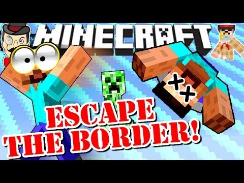 Minecraft ESCAPE THE BORDER! Redstone Creation!