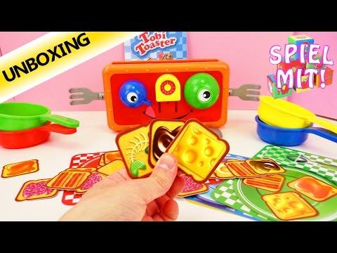 TOBI TOASTER - Wir müssen unser Frühstück fangen! Unboxing- Spiel mit mir Kinderspielzeuge