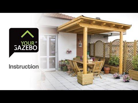 Flat roof gazebo - DIY gazebo - YourGazebo.com
