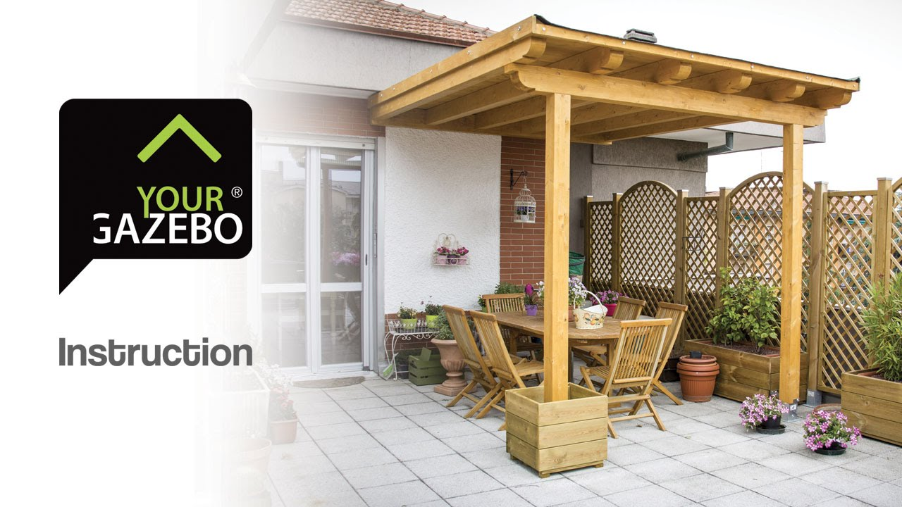 Flat Roof Gazebo Diy Gazebo Yourgazebo Com Youtube