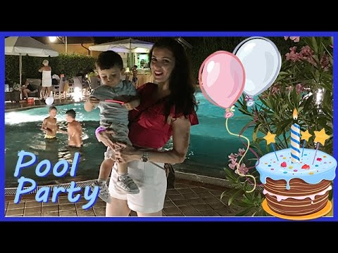Festa di compleanno in piscina - Vlog