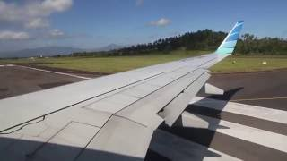 Garuda Indonesia PK-GNF takeoff from Sam Ratulangi Airport in Manado