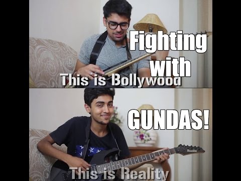 #bollywood V s #reality :   (fighting With Gundas) video