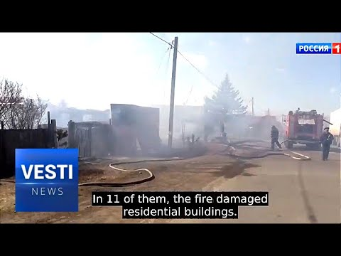 Taking Care of Wildfires! Putin Personally Supervises Zabaikal Region Relief Efforts of Agencies