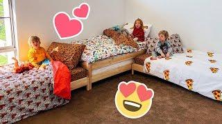 Triplets New Bed Makeover!
