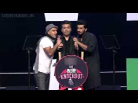 Karan Johar Sings Non Veg Song With Ranveer Singh video
