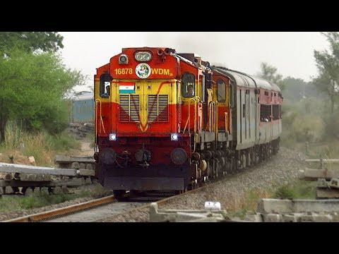 Single line Diesel Trains in resurgent Rajasthan   Jodhpur - Merta