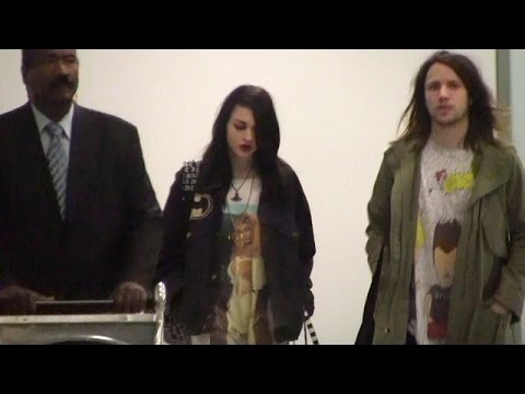 Frances Bean Cobain Looks Somber At LAX After Reuniting With Mother Courtney Love