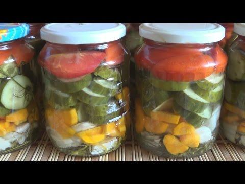 Салат из огурцов и помидоров на зиму. Всегда получается вкусно.