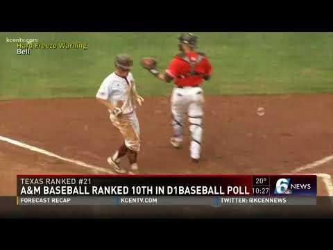 A&M Baseball ranked 10th in D1 Baseball POll
