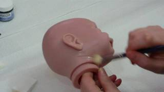 Applying Flesh Coat 08 - Reborn Doll Tutorial